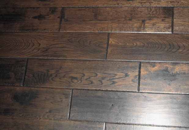 Country Wood Flooring Hand Scraped Solid Oak
